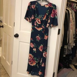 Bought from Vici. Floral wrap dress